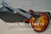 Wholesale Desert Sunburst - Wholesale- desert sunburst Hollow Body Electric Guitar China Guitar
