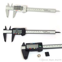 Wholesale Repair Caliper - 150mm 6inch LCD Digital Electronic Carbon Fiber Vernier Caliper Gauge Micrometer Plastic Caliper Repair Tools