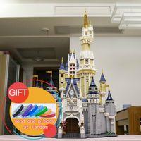 Wholesale Toy City Buildings - New bricks 16008 Cinderella Princess Castle City 4080pcs Model Building Mini blocks Kid Gift Compatible 71040 Toys lepin