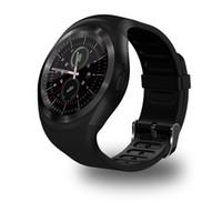 новые часы для женщин оптовых-Новый спорт полный экран Y1 смарт-часы круглый поддержка SIMTF карты с Whatsapp Facebook Мужчины Женщины бизнес Smartwatch для AndroidIOS телефон