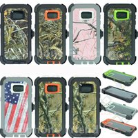 Wholesale Durable Plastic Clips - Camouflage Army Hybrid Rugged Armor Defender Cases for Iphone7 6s plus,Robot 3 in 1 Durable Back Cover for Samsung Galaxy S8 S7 S6 No clip