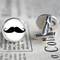 Wholesale Mustache Silver - 10pairs lot Mustache Cufflinks, Mustache Cuff , Groomsmen Cufflinks, Father of the Groom Cufflink, Groom Cufflinks