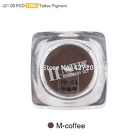 Wholesale PCD Permanent Makeup Ink Lip Tattoo Ink Set Eyebrow Microblading Pigment Professional Encre A Levre ML M Coffee J21