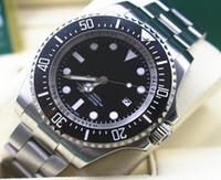 Wholesale Sea Dweller Men Watch - Brand New Mens Automatic Watch Ceramic Bezel Luminous Sea Watches Men 116660 Sport Dive Full Steel Dweller Glidelock Clasp 44MM Wristwatches