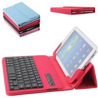 teclado de borda venda por atacado-New universal bluetooth keyboard case para apple ipad 7-10 polegada samsung s6 s7 edge tablet colorido titular da tampa do pc de couro ultra slim