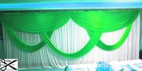 stage backdrop material - 3 m ft ft party Wedding Stage Curtain Backdrops with Swag High Quality Ice Silk Material Wedding Party Stage Decorations