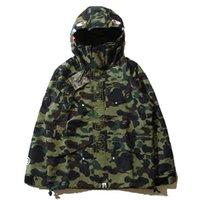 Wholesale Embroidery Sequin Patch - New Autumn Date Line Camouflage Men's Wear Even Hat Defence Windbreaker Man Cardigan Leisure Time Loos trench men winter jacket coat Long l