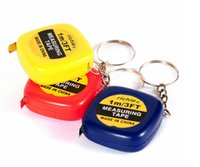 Wholesale Measuring Tape 1m - Measure tapes Mini 1M Tape Measure keychain keychains Steel Ruler Portable Pulling Rulers With Key Chain rings christmas gift