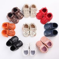 Wholesale Factory Direct Toddler - Wholesale- 9 Colors New Arrival Fashion Fringe Baby Moccasins Soft Cloth Bottom Toddler Shoes The Factory Direct Wholesale Dropshipping