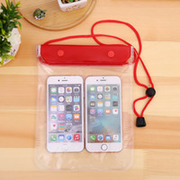 Wholesale case mobile huawei - Clear Waterproof Pouch Dry Case Cover Large size For Camera Mobile phone Waterproof Bags for iphone samsung htc huawei