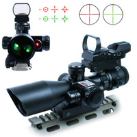 Wholesale Detachable Lens - Red Green Illuminated Tactical Riflescope 2.5-10X40 Sniper Scope Red Laser Detachable Reflex Lens Red Green Dot Sight Scope