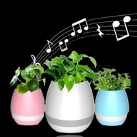Nouvelle musique Green Plant Smart Bluetooth Speaker Music Flower Pots Décoration à domicile Green Plant Music Vase Touch Induction Creative DHL