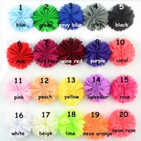 Wholesale Hair Accessories For Red Dress - kids hair bows girls toddler handmade Chiffon sun flower headdress headbands for girls dress flower accessories Playhouse 20 color 6.5cm