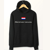 Wholesale Brushed Fleece - Netherlands flag hoodies Country Holland name sweat shirts Fleece clothing Pullover coat Outdoor sport jacket Brushed sweatshirts