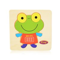 Wholesale Cheap 3d Puzzles - Wholesale-16 Colors Cute Wooden Puzzle Cartoon Jigsaw Wooden Baby Toys Cheap Children Puzzle Educational Toys Funny Games for Children