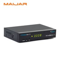 Wholesale Dvb S2 Pvr - 5Pcs Popular Wholesale Dvb-S2 Freesat V7 Max Support USB WIFI USB PVR Ready Network Sharing Cccamd Newcamd Bisskey Powervu Youtube Youporn