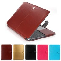 Wholesale Pu Leather Notebook Cover - Fashion PU Leather Laptop Case For Apple Macbook Pro Air Retina 11 12 13 15 inch Ultrabook Notebook Cover bag