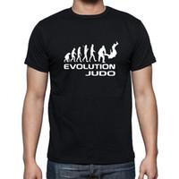 Wholesale Men Judo - Wholesale- New Summer Evolution Of Judo Funny Adult Men Cotton Short Sleeve T Shirts Rap Tees