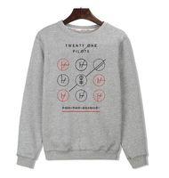 Wholesale Roll Neck Pullover - Wholesale-Twenty One Pilots Black Gray Harajuku Sweatshirt Cotton in Rock n Roll Mens Hoodies and Sweatshirts us Size Street Style 3xl