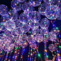 Wholesale Balloon Shorts - Light Up Toys LED String Lights Flasher Lighting Balloon wave Ball 18inch Helium Balloons Christmas Halloween Decoration Toys