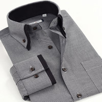 Wholesale Double Collar Shirt Men - Wholesale- Hight Quality vestidos Spring Summer 2014 men's imported clothing Men Double Collar casual Dress shirt slim Asia Size