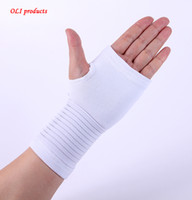Wholesale carpal wrist brace - Wholesale- Nylon,spandex material and white carpal tunnel palm brace wristband sport free shipping #ST6804