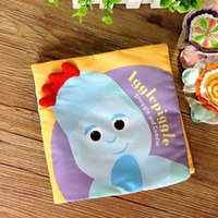 Wholesale Wholesale Iggle Piggle - Wholesale- candice guo! newest arrival in the night garden Iggle piggle colorful multi-touch cloth book baby toy gift 1pc
