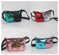 Wholesale Small Purse Double Zipper - Double Sequins Bag Shoulder Sequins Zipper Cross Body Bags Multifunction Fashion Bags Ladies Cosmetic Bags Cases for Women Cute Purse 0674