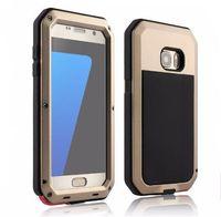 Wholesale Heavy Metal Iphone Cases - Metal Waterproof Cases For iPhone 7 6 6s Plus 5 5s Samsung S8 S7 S6 S5 Shockproof Heavy Duty Armor Cover Luxury Gorilla