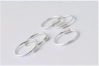 Wholesale Silver Clip Earrings Hoops - Korean Mini Ear Clip 925 Solid Sterling Silver Catapult Ear bone Circle Huggies Hoop Earrings 8mm 10mm 12mm choose