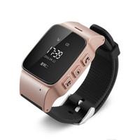 ingrosso tracking dei gps del telefono dei capretti-Per gli uomini anziani I telefoni Android iOS Smart Watch D99 Anziani Smart Phone Watch SOS Anti-perso Gps + Lbs + Wifi Tracking Smart Watch