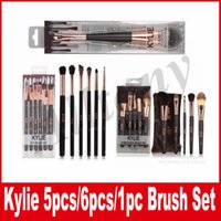 Wholesale Set Up Boxes Wholesale - KYLIE Makeup Brush With Box Eyeshadow eyebrow makeup Brushes kylie jenner make up tools 3 type kylie brushes set with box cosmetics