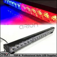 Wholesale Led Amber Warning Lightbar - super bright 54W 18 LED strobe policeman Fireman warning lightbar CE Red blue 12 V Emergency strobe bar parking lamp
