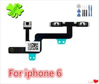 Wholesale Iphone Cable Silent Switch - For iPhone 6 6G Volume Keypad Switch Flex Cable Mute Silent Switch Ribbon 6S Plus Flat AAA Quality