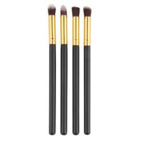 escova extravagante venda por atacado-Atacado-New Arrival Moda Fantasia 4pc / set Maquiagem Ferramentas Corretivo Shading Sobrancelha Escova Sobrancelha Escova Cosméticos Mulher Bambu Handle