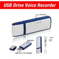 Wholesale Usb Voice Sound - 8GB USB Flash Drive Voice Recorders Spy Pen Recorder Sound Voice Recording USB memory Stick Dictaphone Up to 8hr recording