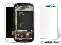 Wholesale Galaxy S3 I747 Lcd White - White Grade A+++ LCD Display Touch Digitizer Complete Screen Panels Full Assembly With Frame For Samsung Galaxy S3 i9300 i9305 i747 i535