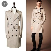 Wholesale Winter Style Jacket For Men - Wholesale- [Asian Size] Men winter British Style Winter Autumn Double-breasted trenches double-breasted coat for men, jacket windcoat