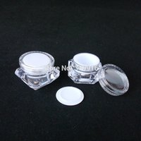 Wholesale Diamond Shaped Bottle - 5g X 30 Empty Cosmetiec Cream Jar,Small Diamond Shape Nail Art Empty Plastic Cosmetic Container,MINI balm Makeup bottle pot