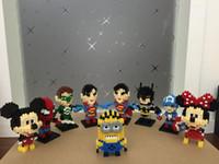 Wholesale Batman Minifigure Toys - Minifigure Super Heroes The Avengers Batman Superman Miky Captain America Building Blocks Sets DIY Bricks Toys With Pakege Box