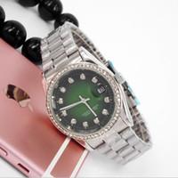 Wholesale Womens Watch Clasp - Diamond relogio feminino black watch womens fashion lady green dress ladies watches top brand luxury clocks Steel Alloy metal Clasp Straps