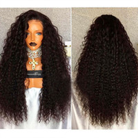 Wholesale beauty banking - 250% Density Curly Lace Front Human Hair Wigs For Black Women Pre Plucked Brazilian Remy Hair Fantasy beauty Bleached Knots