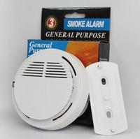 capteurs de sécurité à domicile sans fil achat en gros de-Détecteur de fumée Alarmes Système Capteur Alarme Incendie Détaché Détecteurs Sans Fil Sécurité Domicile Haute Sensibilité Stable LED avec Batterie 9V