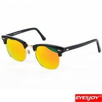 Wholesale Pops Fashion Sunglasses - Mens Brand Designer Half Frame Metal Sunglasses G15 Glass Lens Acetate Frames New Hinge Fashion Pop Sunglasses for men women with Box