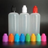 Wholesale Needle Tip Eye Dropper Bottles - 120ml E Juice Bottles Dropper Bottles with Child Proof Caps and Needle Tips E-liquid Bottle Eye Drop