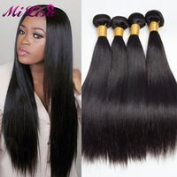 Wholesale Thick Bundle Brazilian Hair - Cheap Brazilian Virgin hair straight 4 bundles deal Brazilian Hair Weave Bundles human hair bundles thick no split ends 100g per bundle