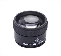 Black 30 X 36mm Jeweler Optics Loupes Magnifier Magnifying Tool Glass Lens Loop Microscope Watch Repair Tool