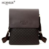 Wholesale wholesale fashion messenger bags - Wholesale- HORYEER Famous Brand polo Bag Men Messenger Bags Crossbody Small sacoche homme Satchel Man Satchels bolsos Travel Shoulder Bags