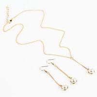 9e7eab8e489e Collar de perlas largas pendientes Set nueva joyería de moda para mujeres  accesorios de ropa colgante de cadena de moda artesanal collar envío gratis