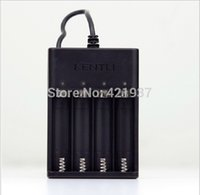 Wholesale Kentli Lithium - Wholesale- KENTLI 4 slots USB battery charger for KENTLI 1.5v AA lithium rechargeable battery